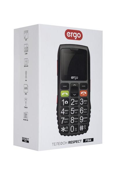 Мобильный телефон ERGO F184 Respect Dual Sim (черный)