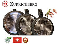 Набор сковородок с мраморным покрытием 3 шт Zurrichberg