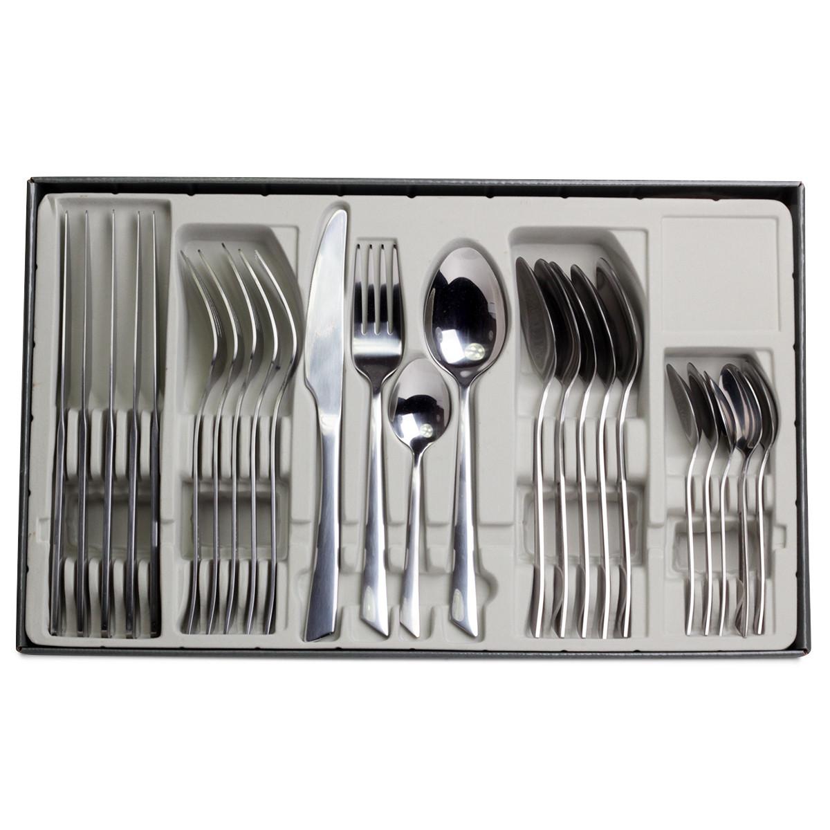 Набор столовых приборов Kamille 6 персон (24 предмета) из нержавеющей стали, зеркальная полировка