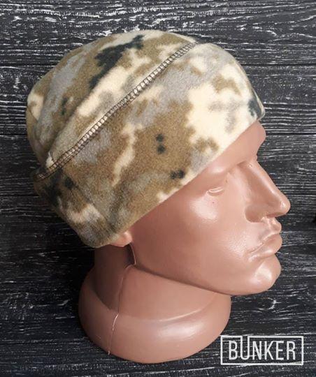 Флисовая шапка/пошлемник в расцветке пиксель ВСУ