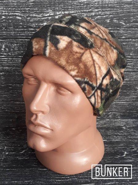 Флисовая шапка/пошлемник в расцветке лес/камыш