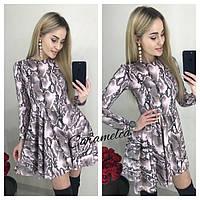 2e7cdeff41b Платье со змеиным принтом с коротким рукавом в категории платья ...