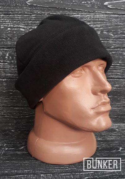 Флисовая шапка/пошлемник в черном цвете
