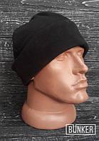 Флисовая шапка/пошлемник в черном цвете, фото 1