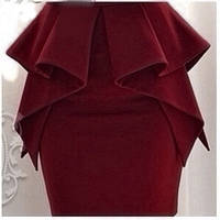 """Стильная женская юбка """"LORAN"""" цвет бордо"""