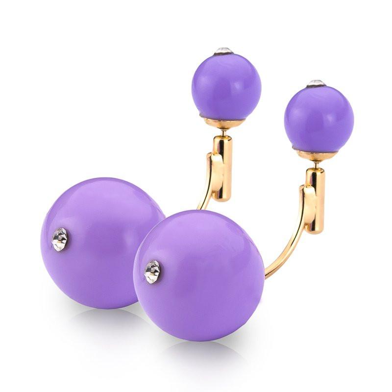 Серьги пурпурные женские wk-0300purple