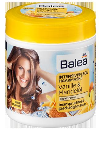 Интенсивная маска для волос Balea Vanille & Mandelöl