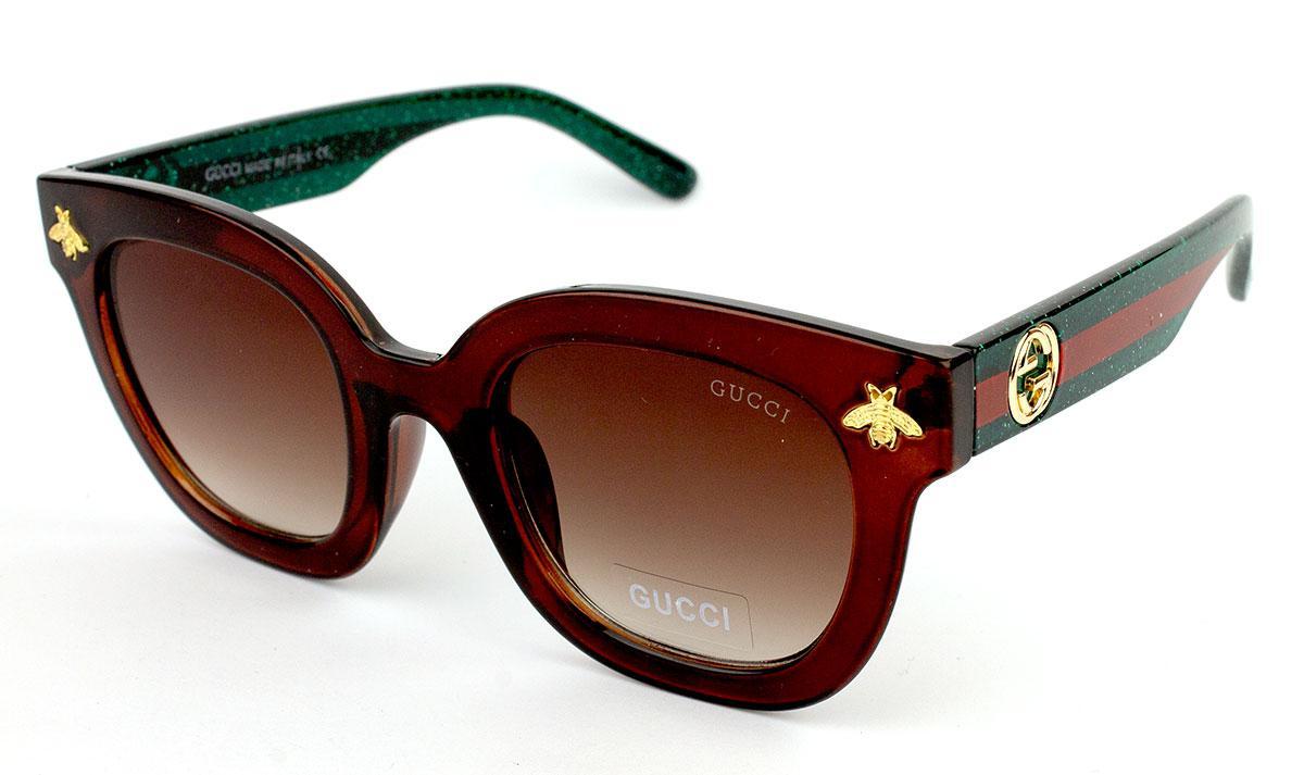 Солнцезащитные очки Gucci GG0116S-3 (Реплика)