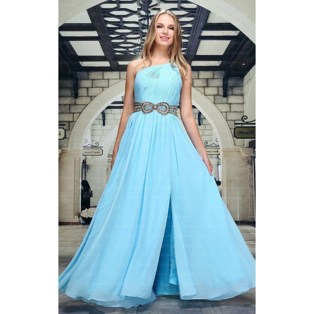Женское платье от Festamo, размер 36 - синий - Мкл-F1463-синий 36