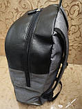 (41*28-мале)Рюкзак Ferrar-PUMA мессенджер с кожаным дном спортивный городской стильный рюкзаки оптом, фото 3