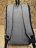 (41*28-мале)Рюкзак Ferrar-PUMA мессенджер с кожаным дном спортивный городской стильный рюкзаки оптом, фото 4