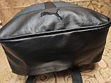 (41*28-мале)Рюкзак Ferrar-PUMA мессенджер с кожаным дном спортивный городской стильный рюкзаки оптом, фото 6