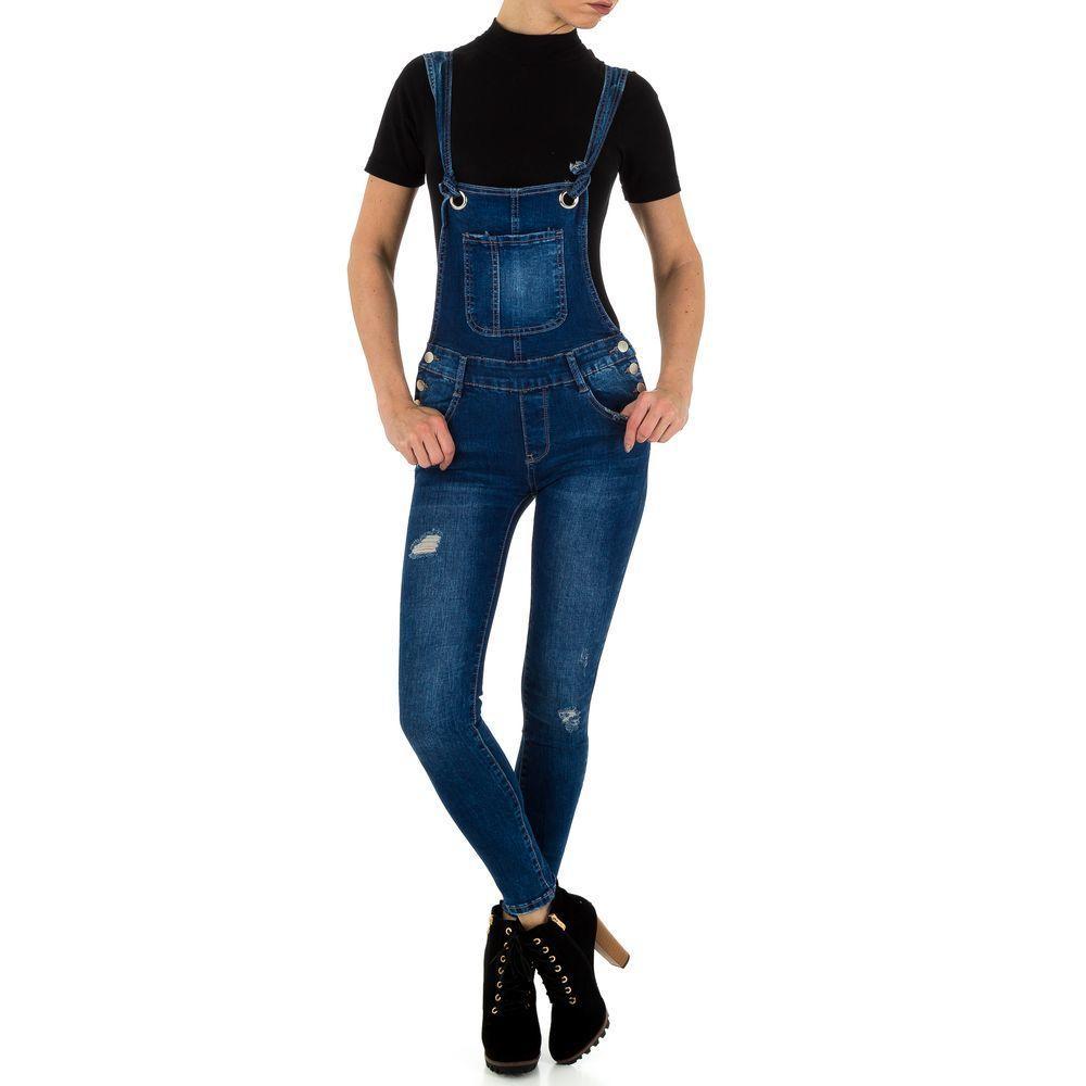 Женский комбинезон рваный с узкими джинсами Laulia (Германия), Синий