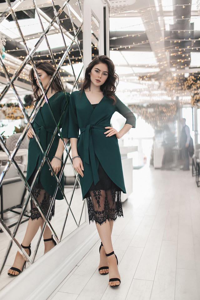 4b3a9a33270 Женское платье двойка с кружевом - Интернет-магазин одежды