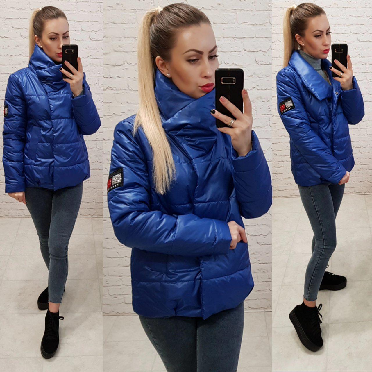 Демисезонная куртка 2019 ,арт. 1004, цвет электрик
