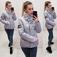 Демисезонная куртка 2019 ,арт. 1004, цвет серый, фото 1