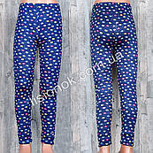 Тонкие хлопковые лосины под джинс для девочек на лето отличного качества, рисунок шарики