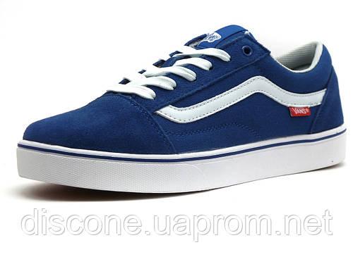 Кеды мужские Vans Old Skool, текстиль/ замша, синие/ белые