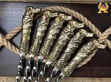 """Набір шампурів """"Вірний друг"""" в кейсі з дерева, фото 2"""
