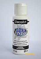 Краска акриловая Сhalky Finish Americana, для стекла и керамики, ультра-матовая, Белая, 59 мл, DecoA