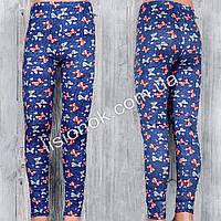 Тонкие хлопковые лосины под джинс для девочек на лето отличного качества, рисунок бантики, фото 1