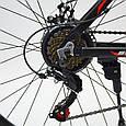 Горный алюминиевый подростковый велосипед с амортизацией S300 BLAST Диаметр колёс 24 Рама 13 Япония Shimano Синий, фото 3