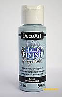 Краска акриловая Сhalky Finish Americana, для стекла и керамики, ультра-матовая, Голубая, 59 мл, Dec
