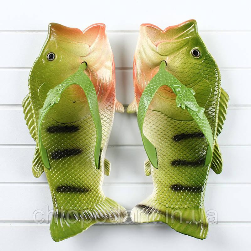 Вьетнамки рыбы тапки в виде окуня Код 10-0922