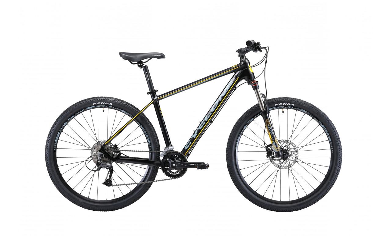"Велосипед CYCLONE SX 27,5"" 2018 черный-желтый"