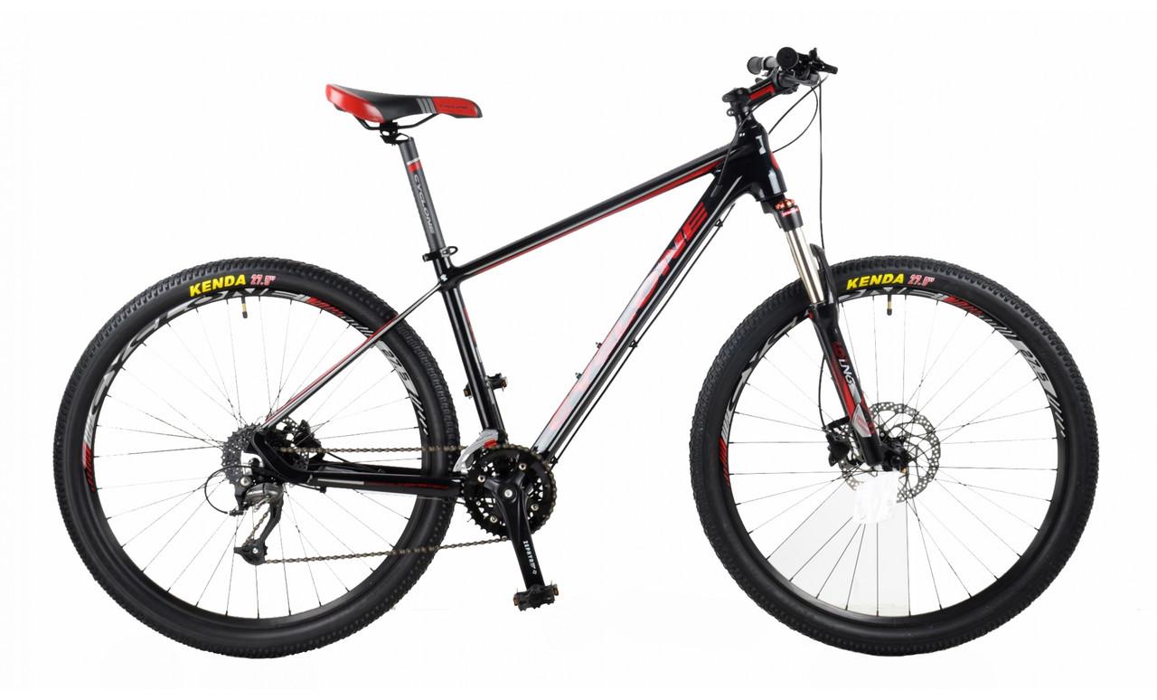 """Велосипед CYCLONE SX 27,5"""" 2018 черный-красный"""