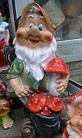 Фигурка Гном с  грибами Оч. Б. 72 см