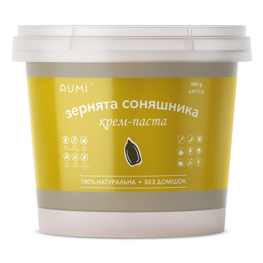 Паста из семечек подсолнуха, 500г, 100% из семян подсолнечника, натуральная, ароматная, Украина