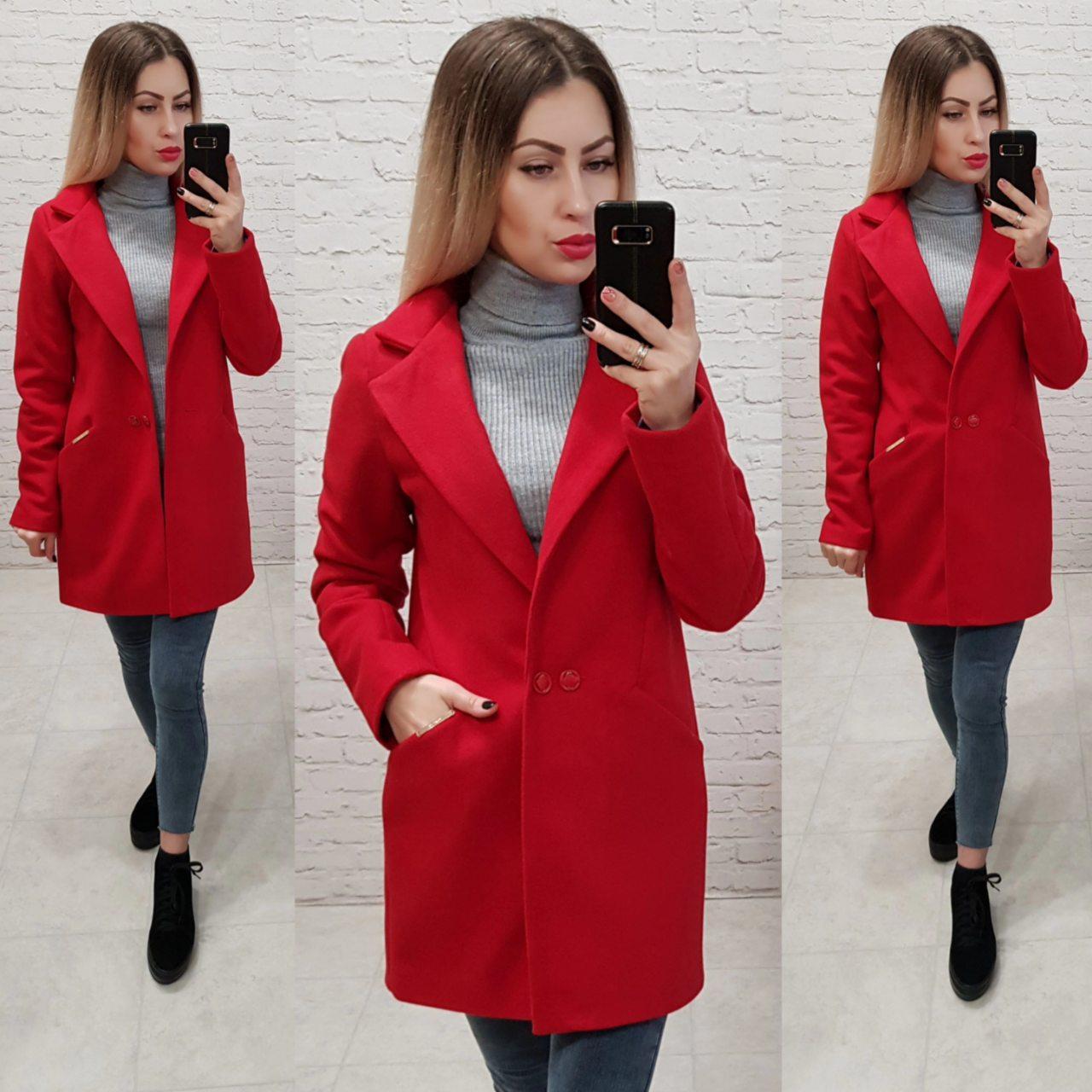 Пальто, арт 821/1, красный