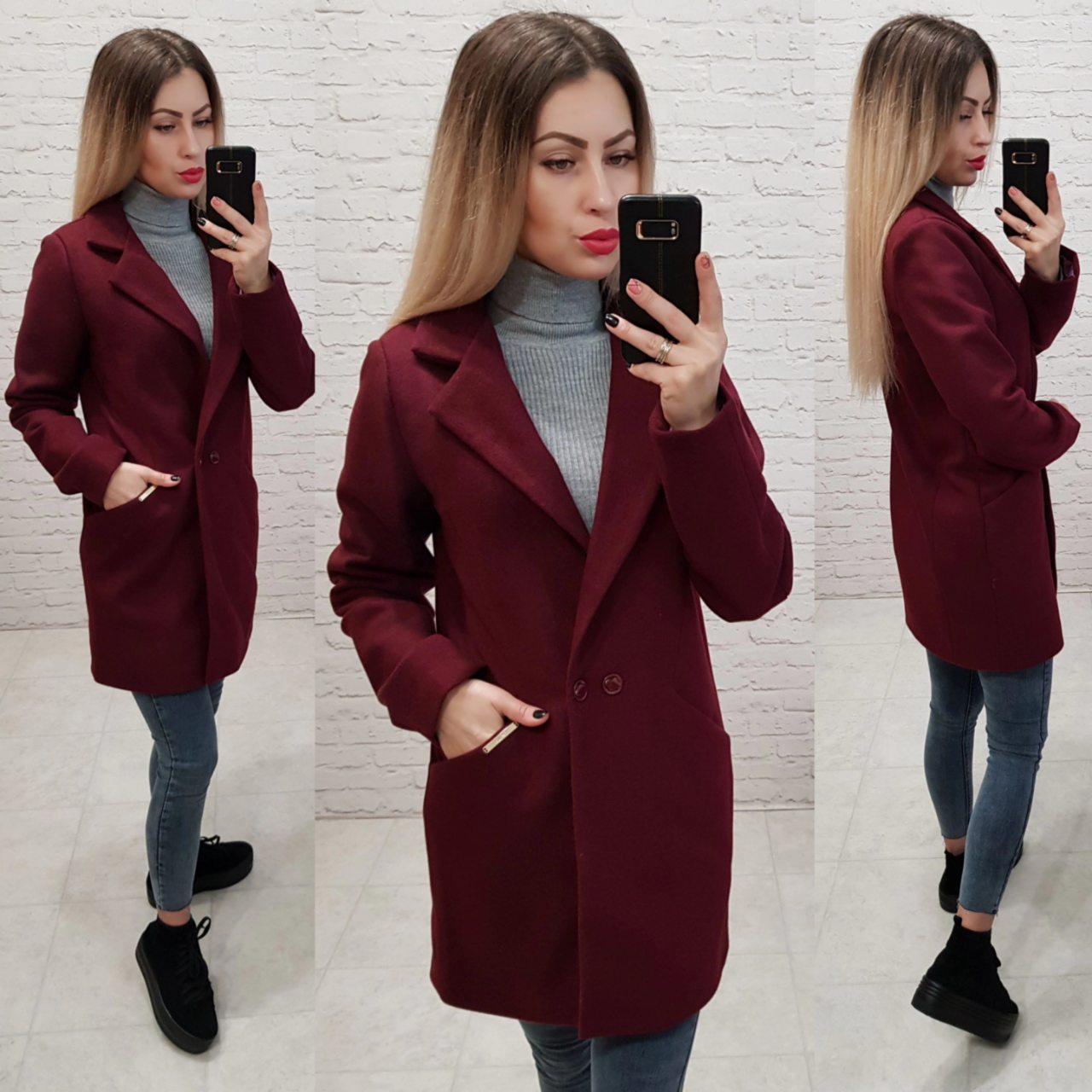 Пальто, арт 821/1, бордовый