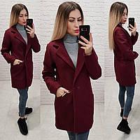 Пальто, арт 821/1, бордовый, фото 1