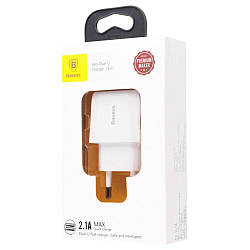 Мережеве ЗУ Baseus Mini Dual-U 2USB 2.1 A White