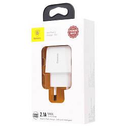 Сетевое ЗУ Baseus Mini Dual-U 2USB 2.1A White