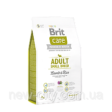 Brit Care Adult Small Breed Lamb & Rice 1 kg (для собак весом до 10 кг)