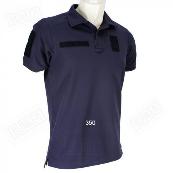 Быстросохнущая футболка поло Coolpass темно-синяя с липучками