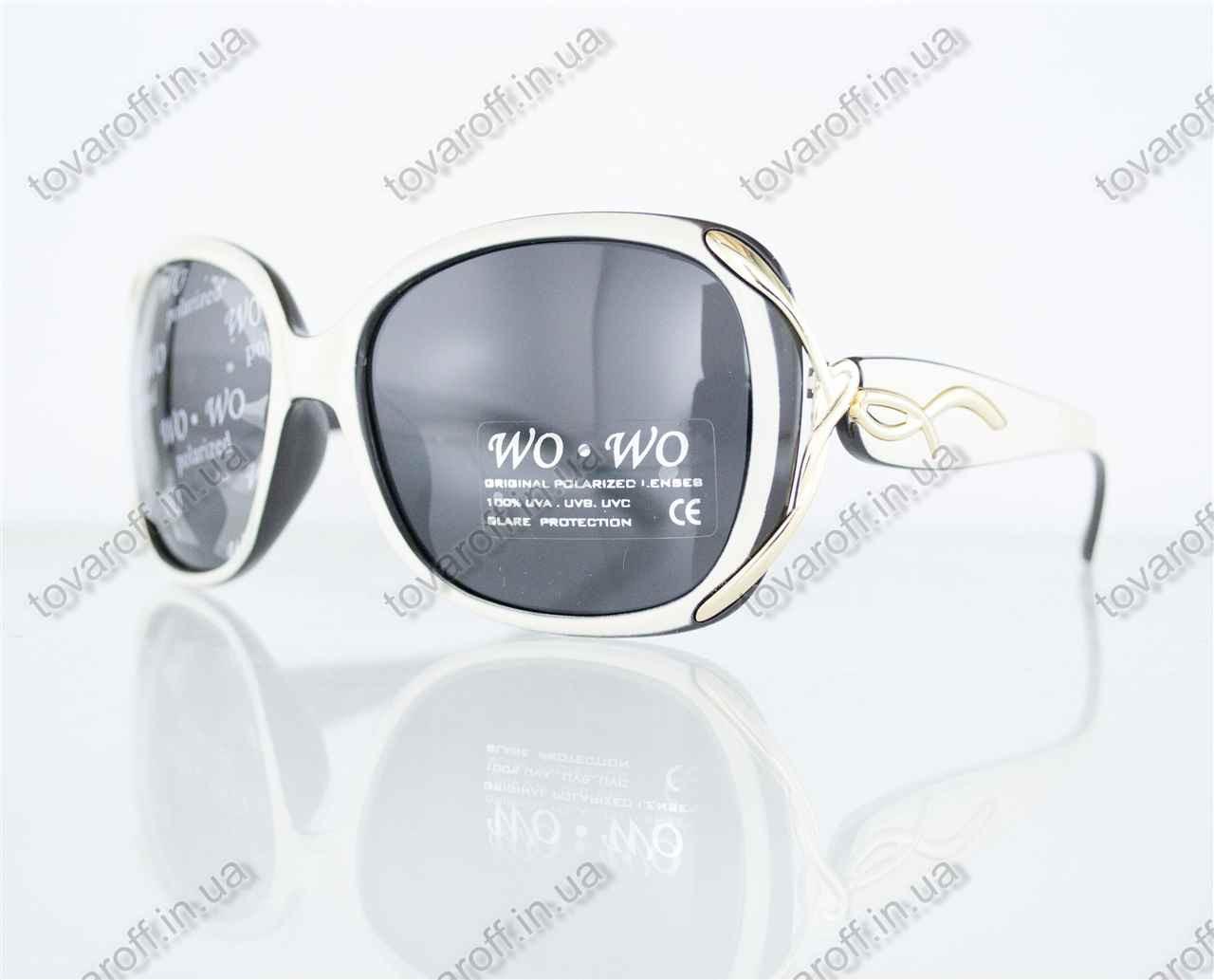 Оптом очки женские солнцезащитные поляризационные - Белые - 8164