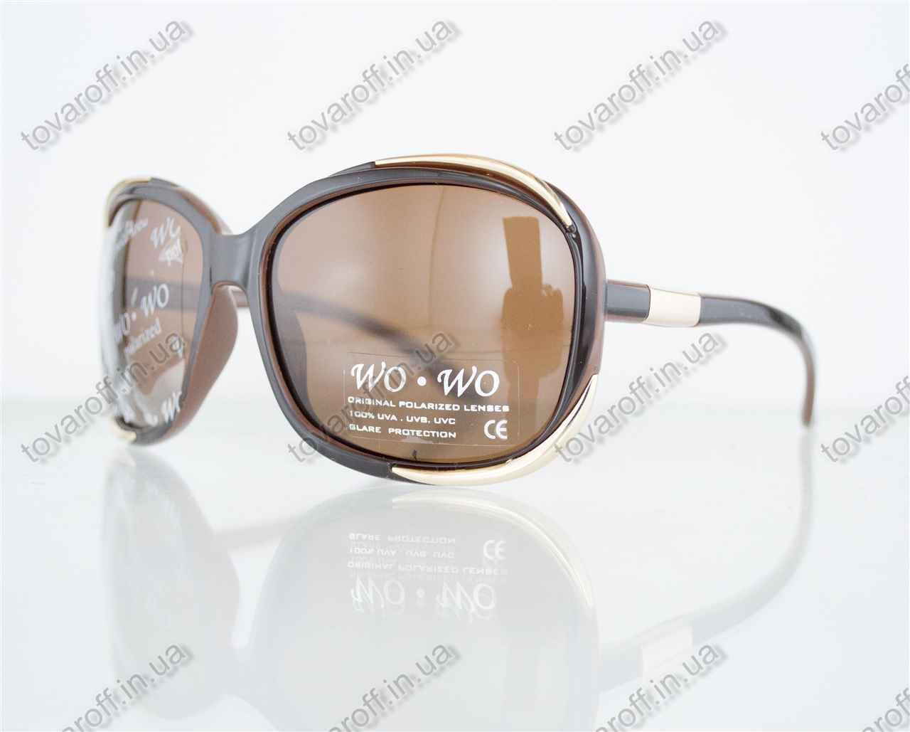 Оптом очки женские солнцезащитные поляризационные - Коричневые - 8140