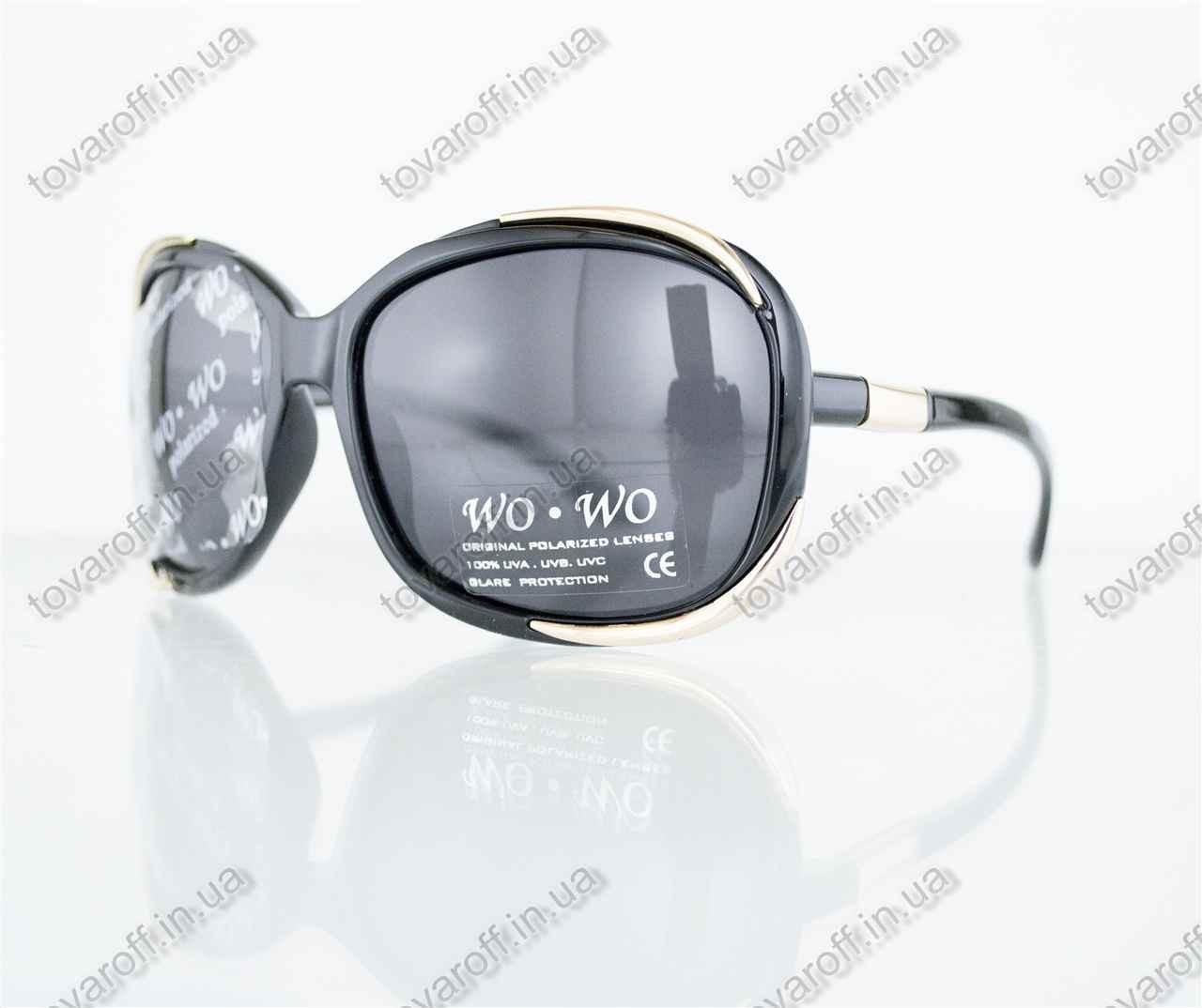 Оптом очки женские солнцезащитные поляризационные - Черные - 8140