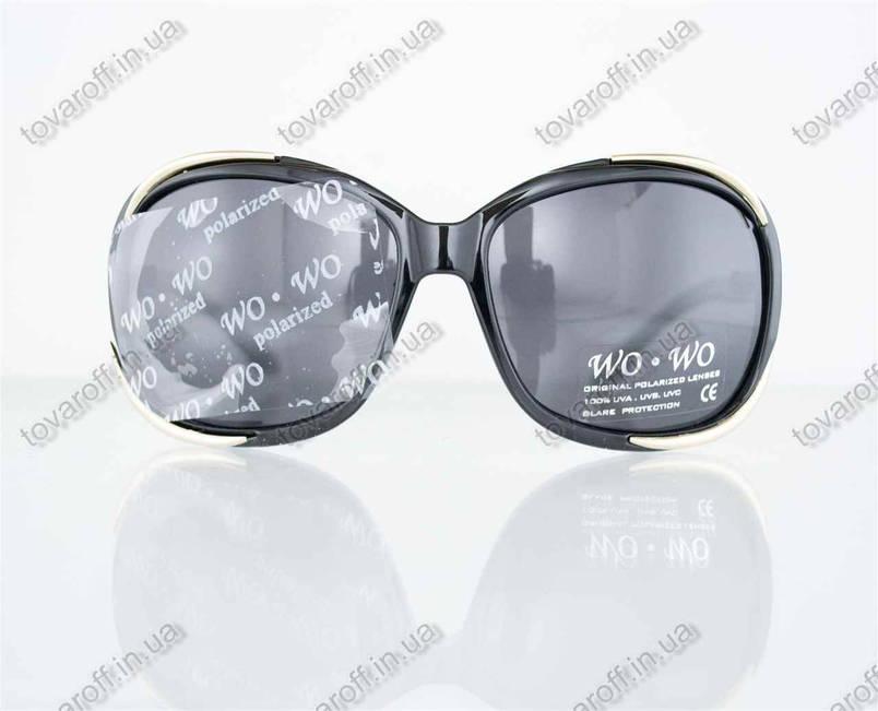 Оптом очки женские солнцезащитные поляризационные - Черные - 8140, фото 2