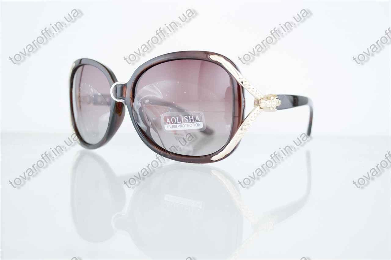 Оптом очки женские солнцезащитные поляризационные - Коричневые - 1561