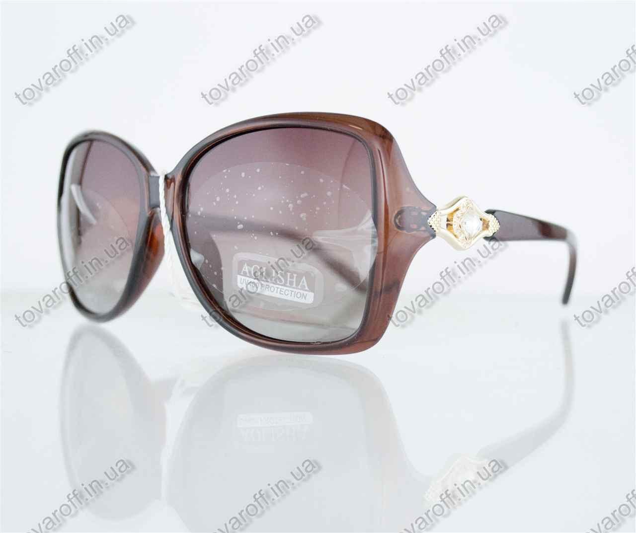 Оптом очки женские солнцезащитные поляризационные - Коричневые - 1553