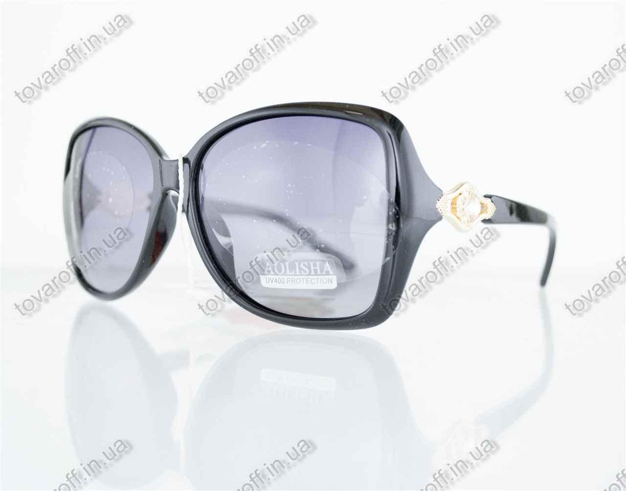 Оптом очки женские солнцезащитные поляризационные - Черные - 1553