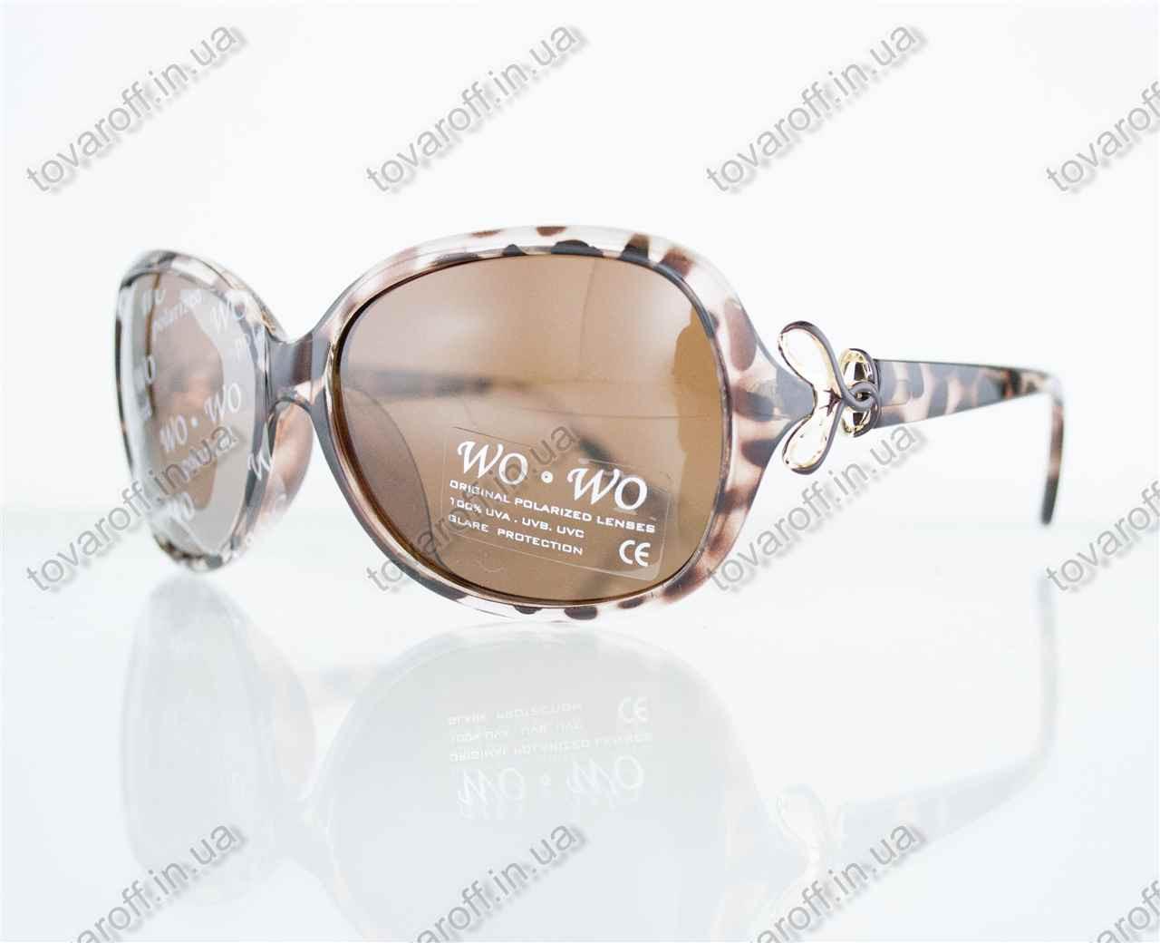 Оптом очки женские солнцезащитные поляризационные - Коричневые - 068