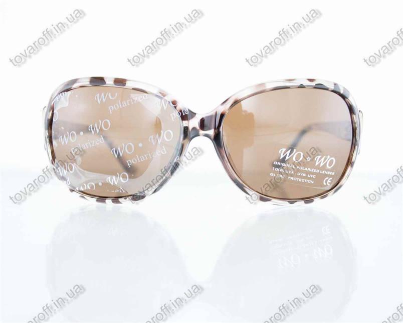 Оптом окуляри жіночі сонцезахисні поляризаційні - Коричневі - 068, фото 2