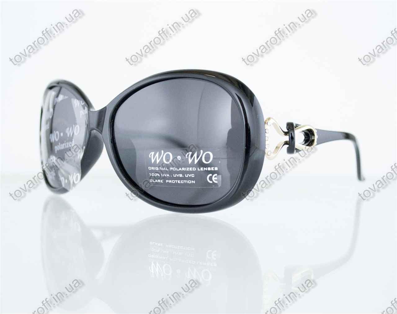 Оптом очки женские солнцезащитные поляризационные - Черные - 062