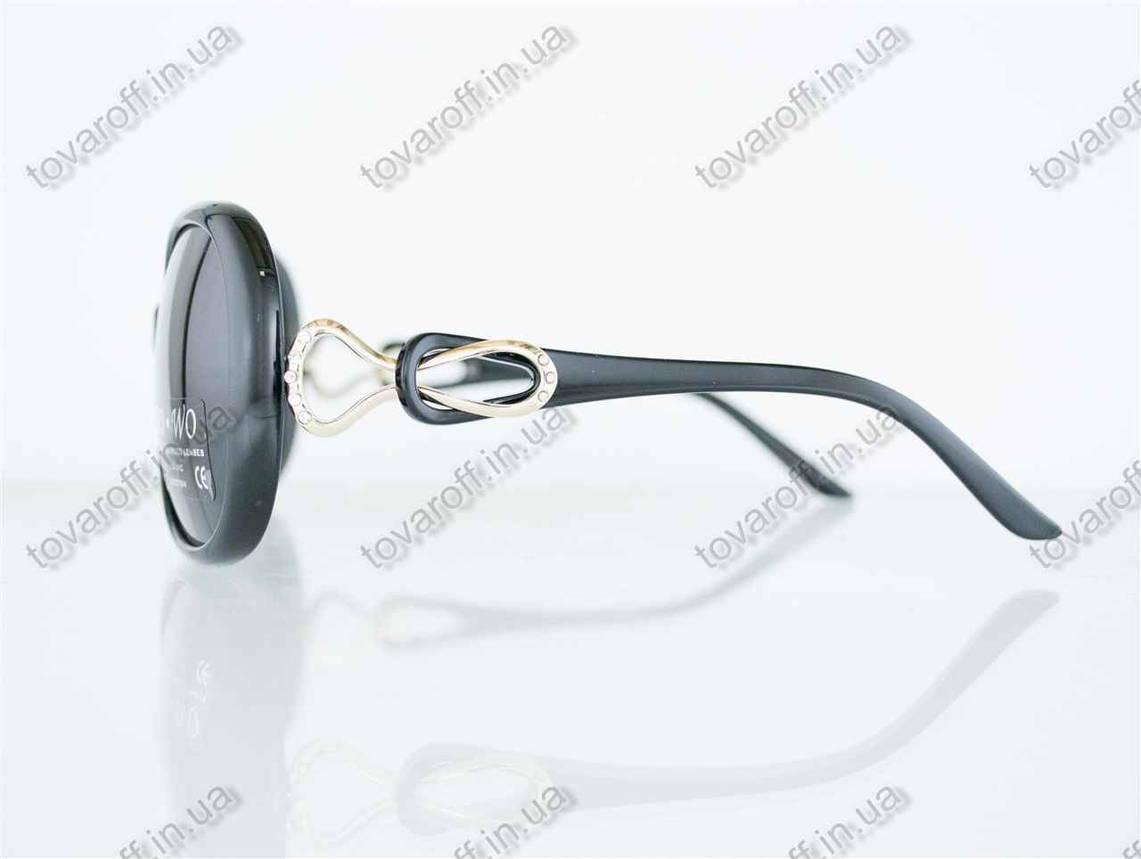 Оптом очки женские солнцезащитные поляризационные - Черные - 062, фото 2